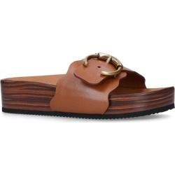 Chloé Leather Lauren Footbed Sandals found on Bargain Bro UK from harrods.com