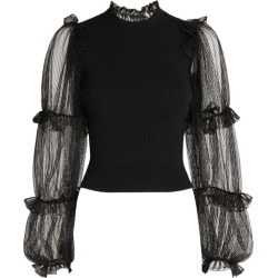 Alexander McQueen Mesh-Sleeve Knitted Top found on Bargain Bro UK from harrods.com
