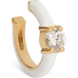 Melissa Kaye Yellow Gold, Diamond And Enamel Aria U Single Ear Cuff found on Bargain Bro from harrods (us) for USD $1,092.88