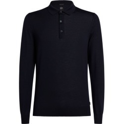 BOSS Knitted Virgin Wool Polo Shirt found on Bargain Bro UK from harrods.com