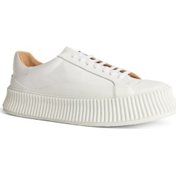 Jil Sander Leather Ribbed Sneakers found on Bargain Bro UK from harrods.com