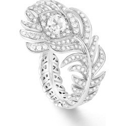 Boucheron White Gold and Diamond Plume de Paon Ring found on MODAPINS from harrods.com for USD $16134.44