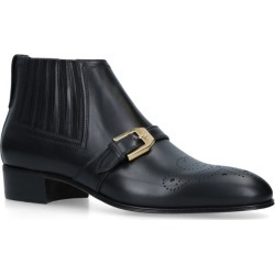 Gucci Leather Brogue Boots found on MODAPINS from harrods.com for USD $1188.49