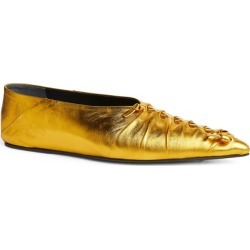 Jil Sander Metallic Leather Pointed Flats found on Bargain Bro UK from harrods.com