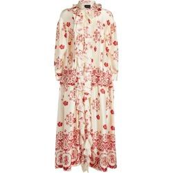 Simone Rocha Silk Ruffle-Detail Smock Dress found on Bargain Bro from harrods (us) for USD $1,600.56