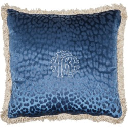 Roberto Cavalli Home Monogram Leopard Print Cushion (60cm x 60cm) found on Bargain Bro UK from harrods.com