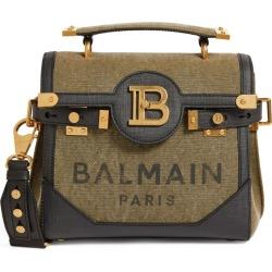 Balmain Leather Trim Canvas B-Buzz 23 Shoulder Bag found on Bargain Bro UK from harrods.com
