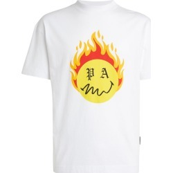 Palm Angels Cotton Burning Head T-Shirt found on Bargain Bro UK from harrods.com
