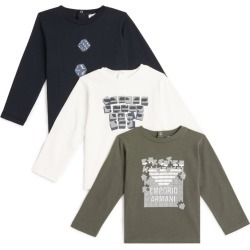 Emporio Armani Kids Set of 3 T-Shirts (6-36 Months) found on Bargain Bro UK from harrods.com