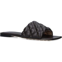 Bottega Veneta Leather Woven Square Slippers found on Bargain Bro UK from harrods.com