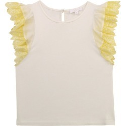 Chloé Kids Embroidered Ruffle-Trim Top (2-14 Years) found on Bargain Bro UK from harrods.com