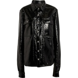 Rick Owens Crinkled High-Shine Jacket found on Bargain Bro UK from harrods.com