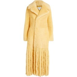 Bottega Veneta Fringed Shearling Two-Tone Coat found on Bargain Bro UK from harrods.com