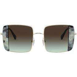Miu Miu Rectangular Noir Sunglasses found on Bargain Bro UK from harrods.com