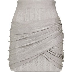 Balmain Twist Drape Mini Skirt found on Bargain Bro UK from harrods.com