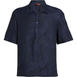 Barena Leaf Print Polo Shirt found on MODAPINS from harrods.com for USD $255.63