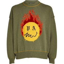 Palm Angels Burning Head Knit Sweater found on Bargain Bro UK from harrods.com