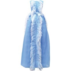 Huishan Zhang Beau Feather-Trim Gown found on MODAPINS from harrods.com for USD $1264.28