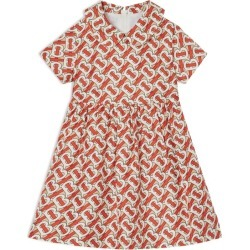 Burberry Kids Silk TB Monogram Print Dress found on Bargain Bro UK from harrods.com