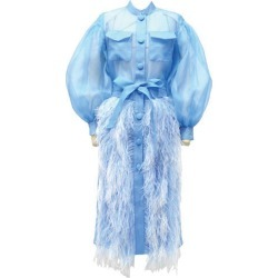 Huishan Zhang Clarabelle Feather-Trim Coat found on MODAPINS from Harrods Asia-Pacific for USD $2340.26