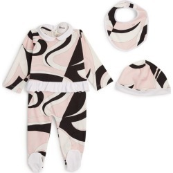Emilio Pucci Junior Heliconia All-In-One, Bib and Hat Set (12 Months) found on Bargain Bro UK from harrods.com