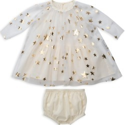 Stella McCartney Kids Gold Star Tulle Dress and Bloomers (6-36 Months) found on Bargain Bro UK from harrods.com