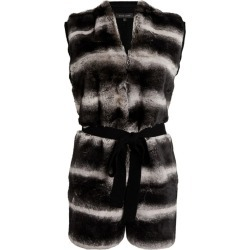 Izaak Azanei Fur-Front Belted Gilet found on MODAPINS from Harrods Asia-Pacific for USD $574.50