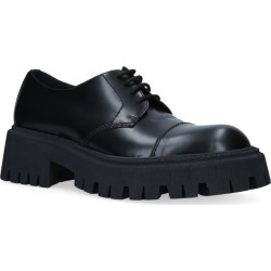 Balenciaga Leather Tractor Derby Shoes found on Bargain Bro UK from harrods.com