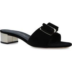 Salvatore Ferragamo Zefir Bow Velvet Mules found on Bargain Bro UK from harrods.com