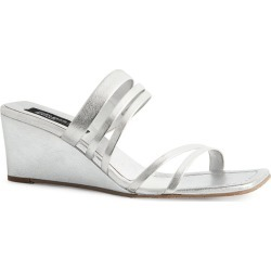 Pedro Garcia + Amlul Metallic Leather Barbaria Wedge Sandals 55 found on MODAPINS from harrods.com for USD $401.88