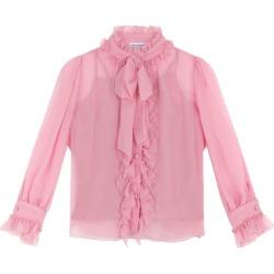 Dolce & Gabbana Kids Silk Ruffle-Detail Shirt (8-12 Years) found on Bargain Bro UK from harrods.com