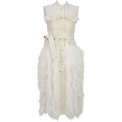 Huishan Zhang Wyatt Feather-Trim Tweed Dress found on MODAPINS from harrods (us) for USD $2635.00