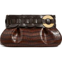 Chloé Leather Croc-Embossed Darryl Clutch Bag found on Bargain Bro UK from harrods.com