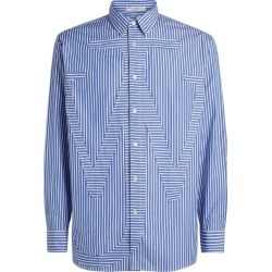 JW Anderson Anchor Detail Striped Shirt found on MODAPINS from harrods.com for USD $271.98