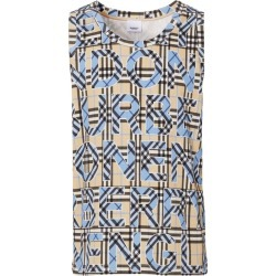 Burberry Check Logo Print Sleeveless Top found on GamingScroll.com from Harrods Asia-Pacific for $637.82