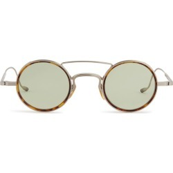Jacques Marie Mage Tortoiseshell Round Glasses found on MODAPINS from harrods.com for USD $1044.82