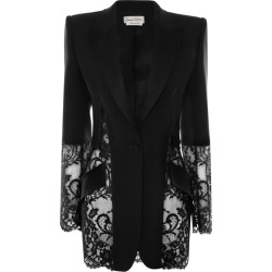 Alexander McQueen Lace Panel Blazer found on Bargain Bro UK from harrods.com