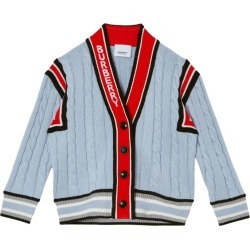 Burberry Kids Logo Cable Knit Merino Wool Cardigan (3-14 Years) found on Bargain Bro from Harrods Asia-Pacific for USD $363.73