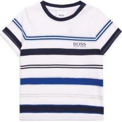 Boss Kids Striped Logo T-Shirt found on Bargain Bro UK from harrods.com