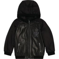Dolce & Gabbana Kids Leather Panel Bomber Jacket found on Bargain Bro UK from harrods.com