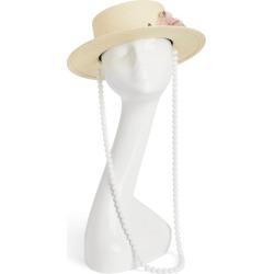 Maison Michel Flower Embellished Kiki Hat found on Bargain Bro from harrods (us) for USD $823.08