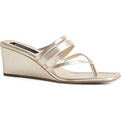 Pedro Garcia + Amlul Metallic Leather Finisterre Wedge Sandals 55 found on MODAPINS from harrods.com for USD $401.88