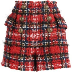 Balmain Tartan Tweed Shorts found on Bargain Bro UK from harrods.com