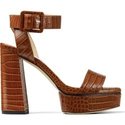 Jimmy Choo Jax 115 Croc-Embossed Leather Sandals found on Bargain Bro from harrods.com for £598