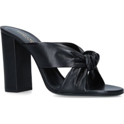 Saint Laurent Loulou Knot Mules 100 found on Bargain Bro UK from harrods.com