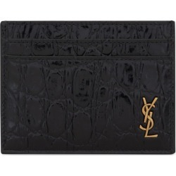 Saint Laurent Tiny Monogram Croc-Embossed Card Holder found on GamingScroll.com from Harrods Asia-Pacific for $266.80