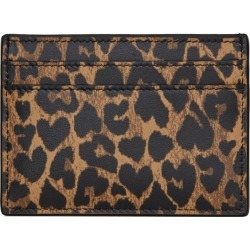 Saint Laurent Leather Leopard Print Card Holder found on GamingScroll.com from Harrods Asia-Pacific for $287.02