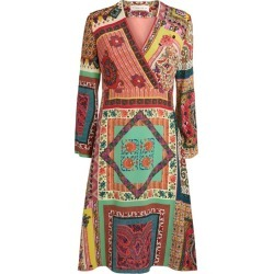 Etro Patchwork Print Wrap Dress found on Bargain Bro UK from harrods.com