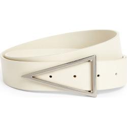 Bottega Veneta Leather Triangular Buckle Belt found on Bargain Bro UK from harrods.com