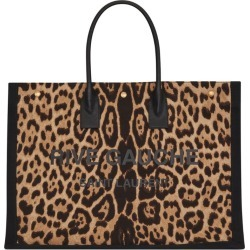 Saint Laurent Canvas Leopard Rive Gauche Tote Bag found on Bargain Bro India from Harrods Asia-Pacific for $1217.19
